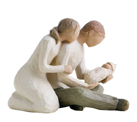 Willow Tree NEW LIFE FIGURE MOTHER FATHER BABY 26029