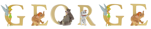 Disney Alphabet Letters  George