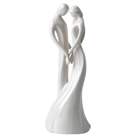 CIRCLE OF LOVE SOUL MATES FIGURINE BASED PORCELAIN SCULPTURE 20CM NEW BOXED