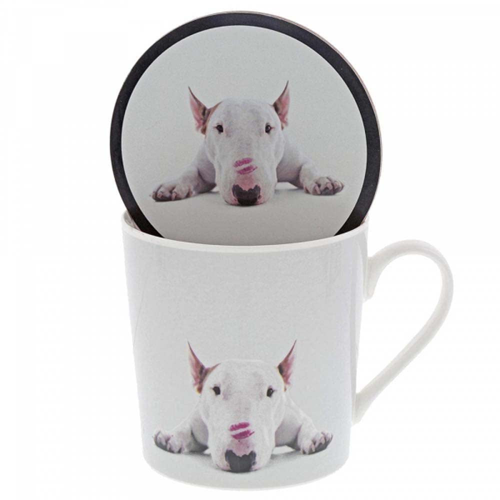 Jimmy The Bull 'Lipstick Kisses' Mug & Coaster Set