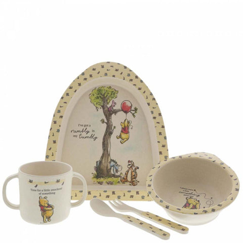 Enesco WINNIE THE POOH DINNER SET BAMBOO A29837
