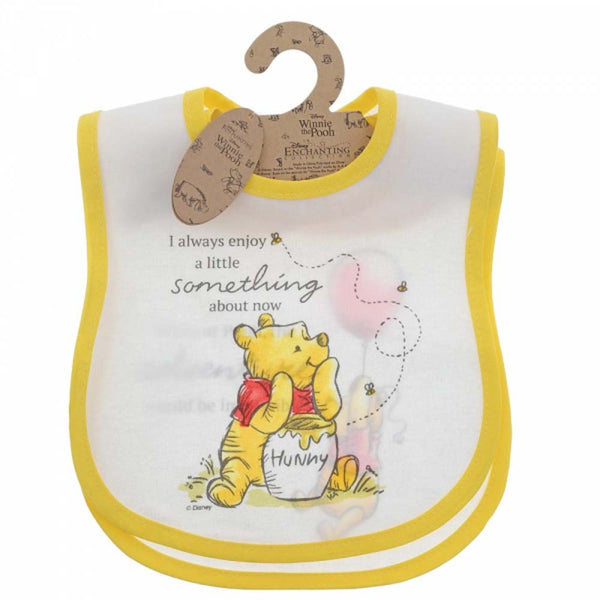 Enesco WINNIE THE POOH BIB (SET OF 2) COTTON A29997