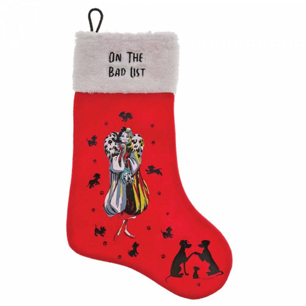 Enesco ON THE BAD LIST STOCKING POLYESTER  A30236
