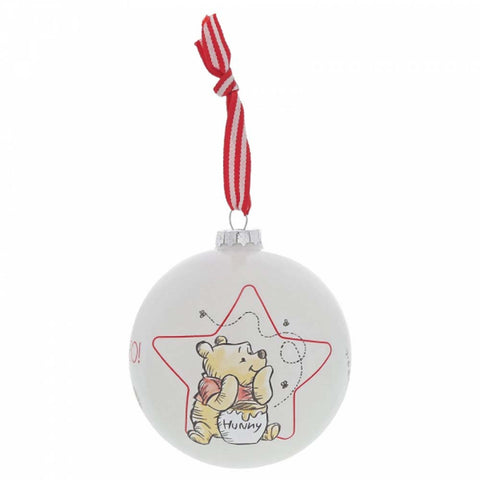 Enesco WINNIE THE POOH BAUBLE GLASS  A30245