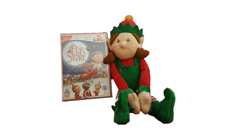 An Elfs Story DVD with 20cm Plush Girl Elf