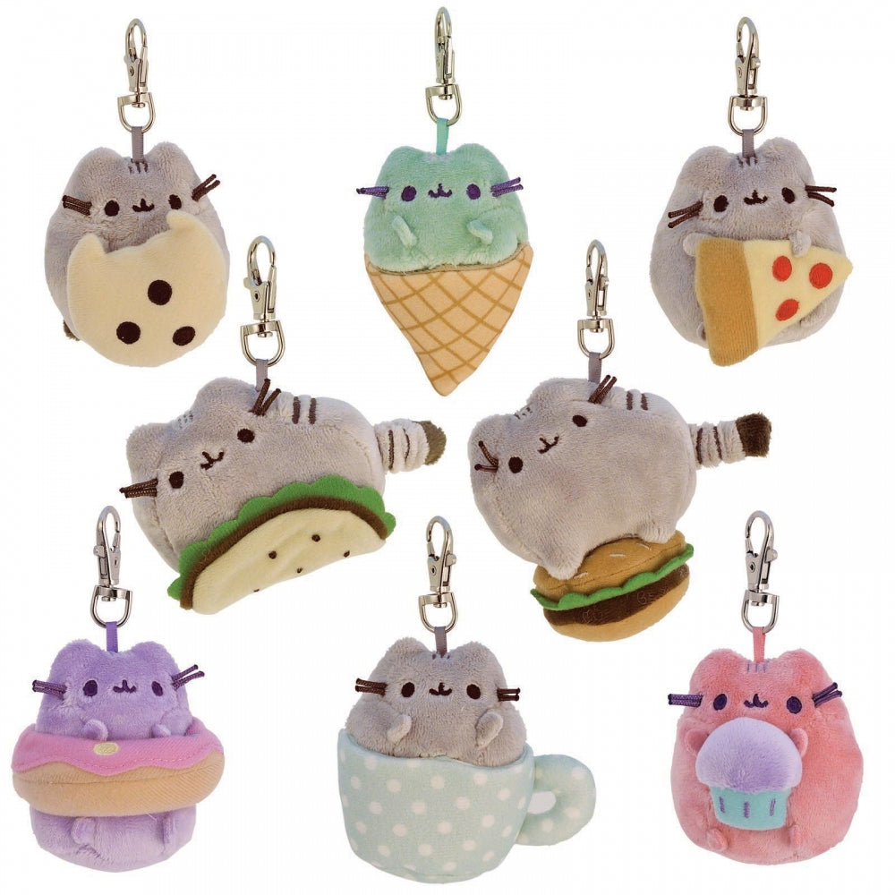 "Pusheen ""Snack Time"" Surprise Plush Keychain Blind Box"