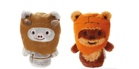 Ewok and Chief Chirpa Star Wars Set of Itty Bittys Beanies Soft Toys 12cm