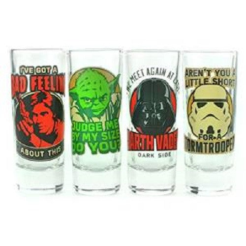 Star Wars Classic Quotes Shot Glass Set