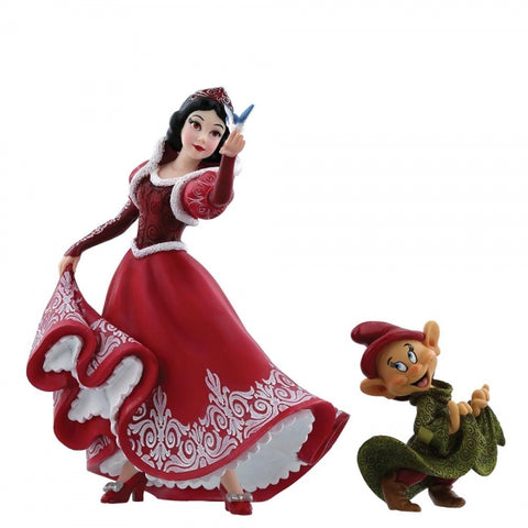 Christmas Snow White & Dopey Figurine 20cm