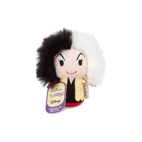 Disney Cruella De Vil Itty Bitty Soft Toy New with Tags