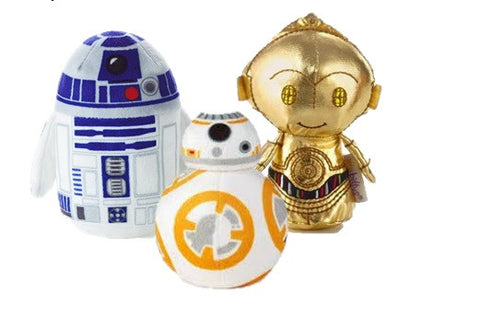 Hallmark Star Wars Itty Bitty Set Of 3 BB-8, R2-D2 and C-3PO Soft Toys 11cm