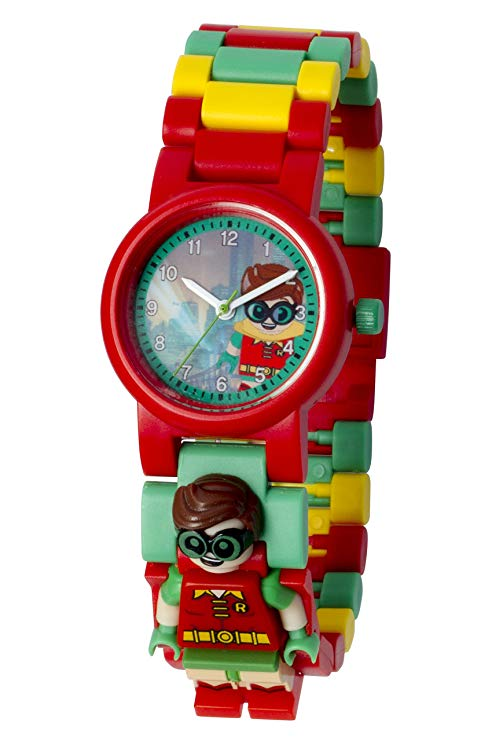 Lego Batman Movie Watch Robin Kids Minifigure Link Buildable Red/Green