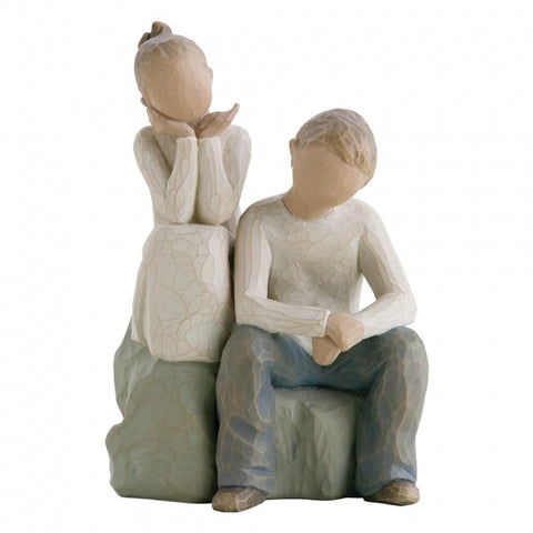 Willow Tree Figurine Brother And Sister 14cm