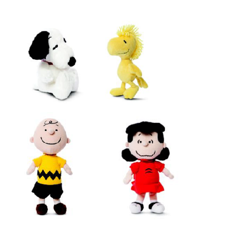 Peanuts Snoopy And Charlie Brown X 4 Plush Set
