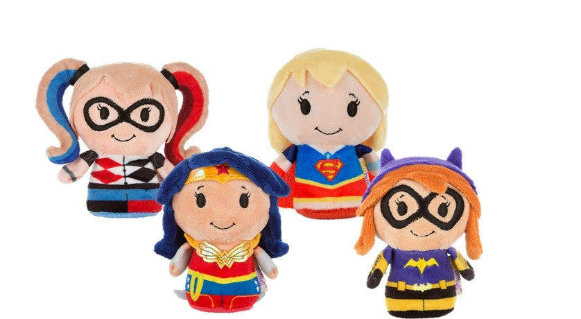 Super Hero Girls Set of 4 Itty Bitty Beanie Soft Toys