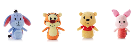 Winnie The Pooh Itty Bitty set of Winnie, Eeyore,Tigger and Piglet soft Toys