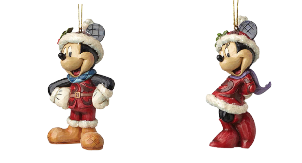 Disney Traditions Sugar Coated Mickey Mouse and Minnie Christmas Hanging