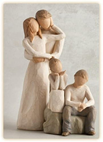 Willow Tree Figurines Gift Set Mother & Father with Son & Daughter 26187 & 26032