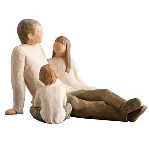Willow Tree Figurines Gift Set Father with Son & Daughter New