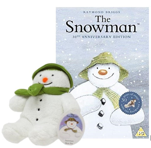 The Snowman DVD with Plush Snowman Soft Toy 15cm
