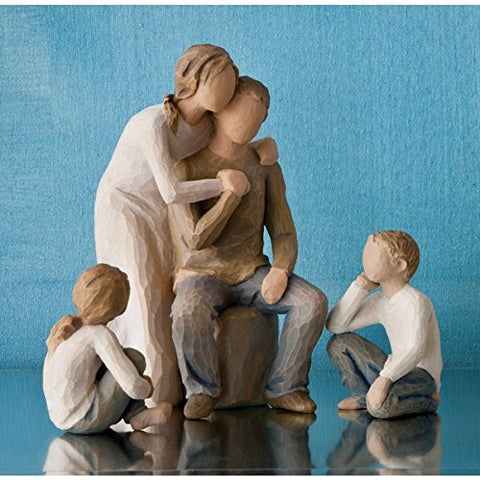 Willow Tree Figurines Gift Set Mother & Father with Son & Daughter