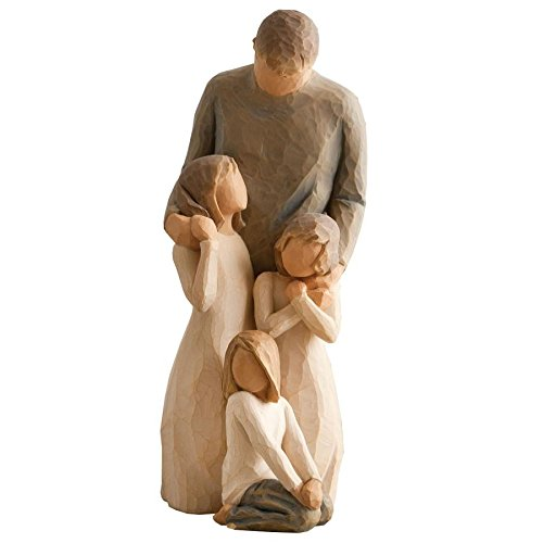 Willow Tree Figurines Gift Set Father with Three Daughters