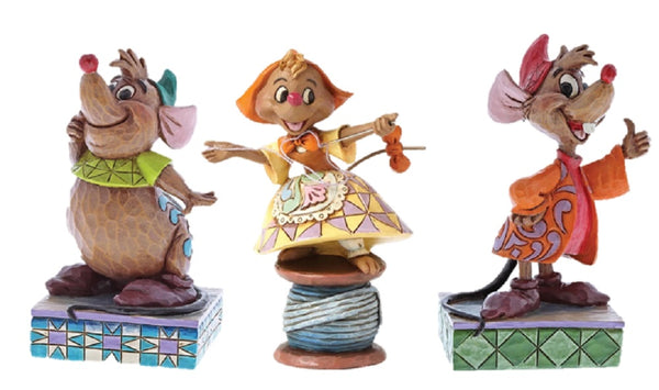 Disney Traditions Cinderella Mice Figurine Jaq, Gus and Suzy Set