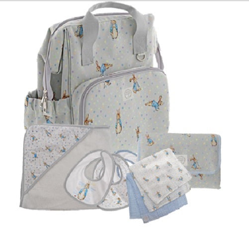 Peter Rabbit Baby Collection Changing Bag Gift Set (Backpack 37cm)