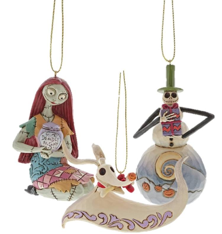 Nightmare Before Christmas HANGING DECORATIONS SET OF 3 (Jack, Sally and Zero)