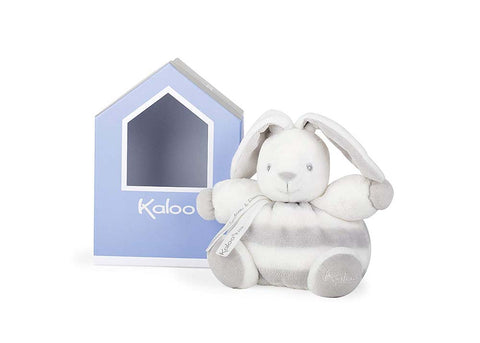 Kaloo K960084 Bébé Pastel Chubby Rabbit Plush Toy, Grey/Cream, 18 cm/7.1 Inch