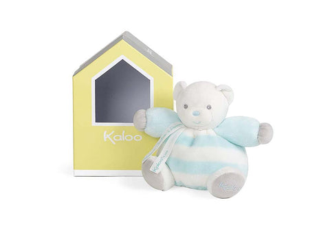 "Jura Toys K960085""Kaloo Bebe Pastel Chubby Bear Aqua and Cream"" Toy (Small)"