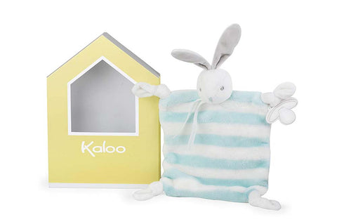 Kaloo K960088 Bébé Pastel Doudou Rabbit, Light Blue/Cream, 20 cm/7.9 Inch