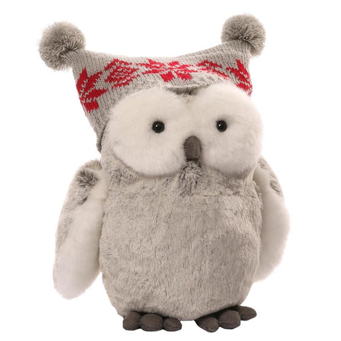 Christmas Twinkles Snow Owl 23cm Plush Soft Toy