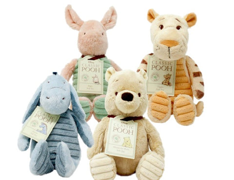 Disney Winnie the Pooh Character Set of 4;  Tigger, Piglet, Eeyore and Pooh - Hundred Acre Wood - Soft Toy