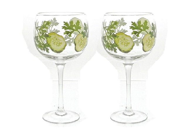 Ginology Cucumber Copa Glass Set of 2