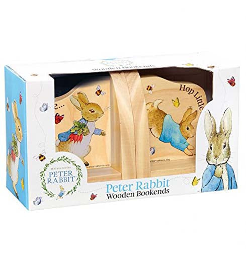 Beatrix Potter Peter Rabbit Wooden Book Ends