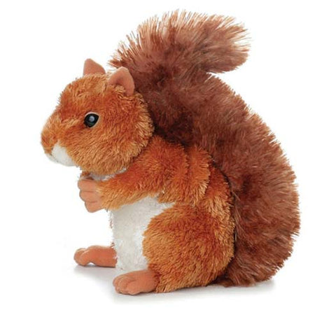 "Aurora Red Squirrel Mini Flopsie Nutsie 8"" Soft Toy"