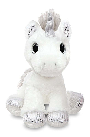 Aurora World Sparkle Tales Star Silver Twilight Unicorn Soft Toy 30cm