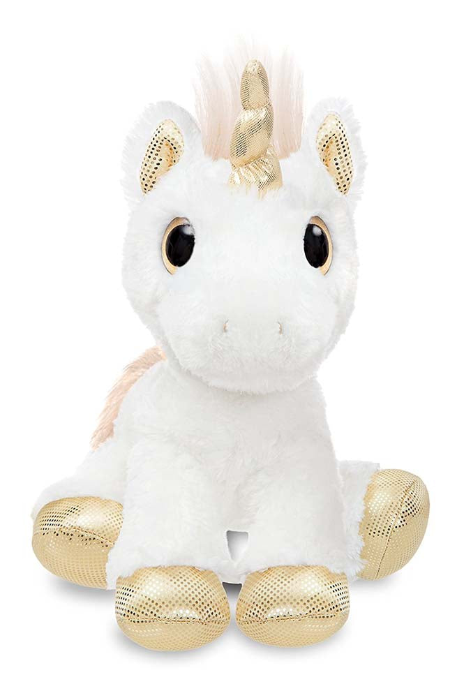 Aurora World Sparkle Tales Star Gold Star Unicorn Soft Toy 30cm