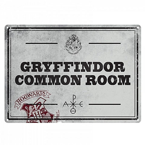 Harry Potter Common Room Door Sign