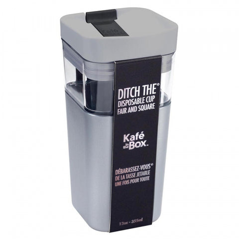 Kafe in the Box Designer Travel Mug 12oz - 355ml Small Silver