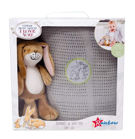 Guess How Much I Love You Toy & Blanket Gift Set New