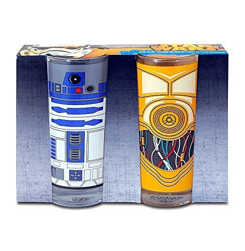 Star Wars Set Of 2 Glasses R2 D2 and C3P0
