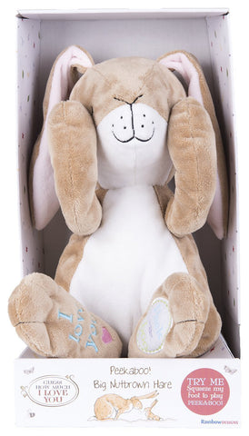 "Rainbow Designs ""GHMILY Big Nutbrown Peekaboo! Hare"" Soft Toy 25cm"