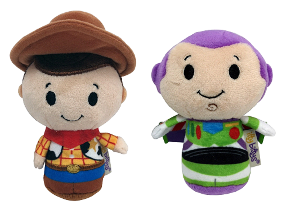Toy Story Itty Bitty Woody and Buzz Set of 2 Soft Toys
