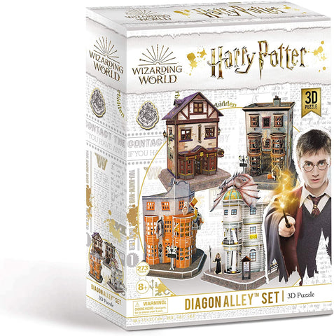 Wizarding World Harry Potter Diagon Alley Set of 4 3D Puzzles