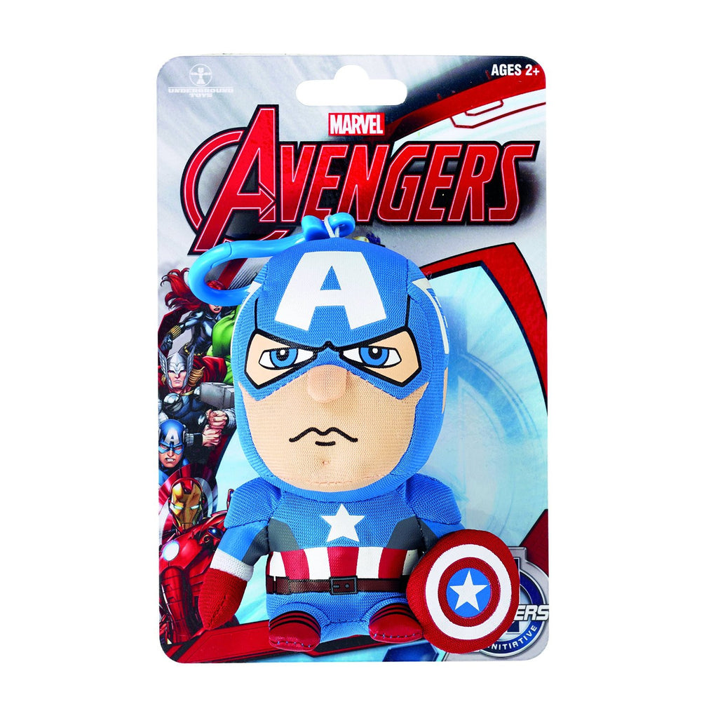 Marvel Avengers Captain America Talking Soft Keyring 12cm