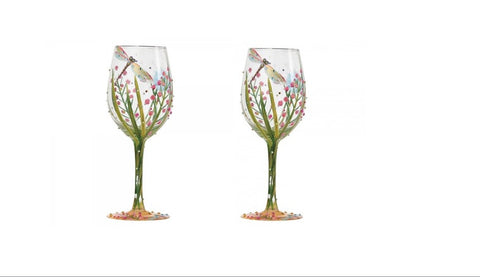 Lolita Dragonfly Wine Glass Set of 2