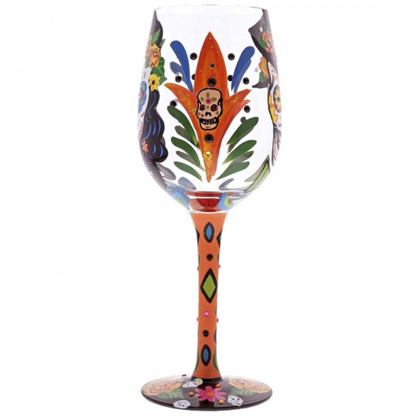 Lolita SUGAR SKULLS WINE GLASS GLS11-5544E