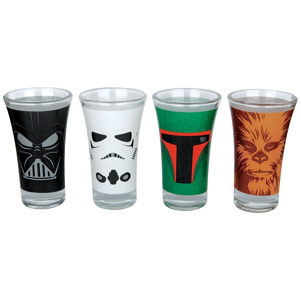 Star Wars Set Of 4 Character  Mini Shot Glasses